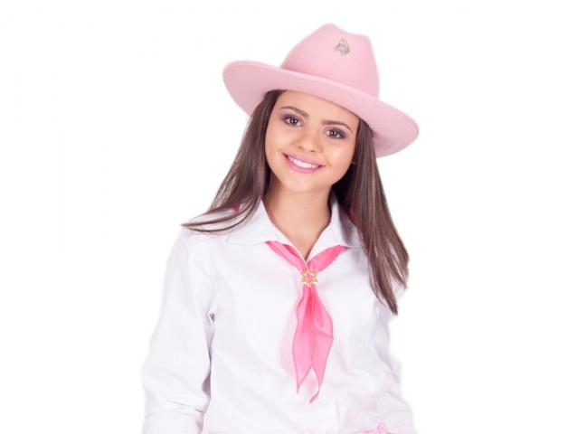Chapéu Country Rosa, marrom ou Preto