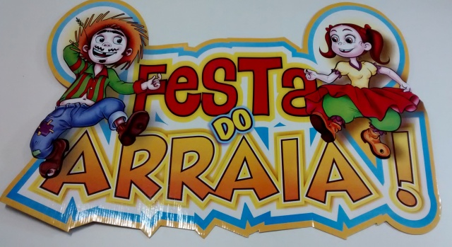 Placa Festa do Arraiá