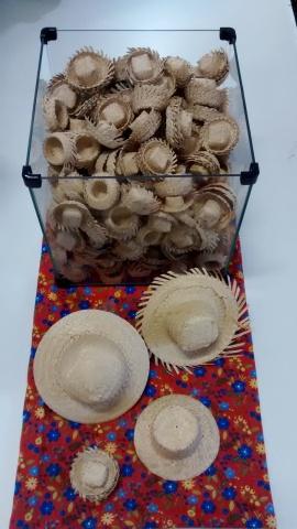 Mini chapéu palha