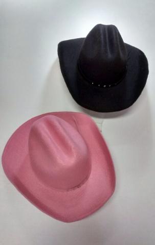 Chapéu Cowntry Preto Marrom Rosa