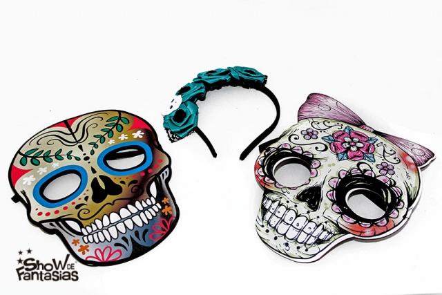 Mascara e tiara caveira mexicana