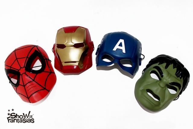 máscaras super heróis