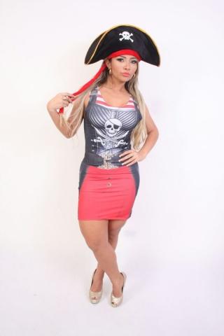 Pirata Caveira Tubinho